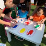 Playgroup with hand paint outddor