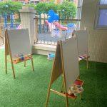 Aisles in kindergarten