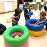 Playgroup hoops game